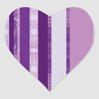 Sticker Cœur violet