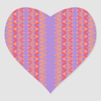 Sticker Cœur violet