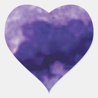 Sticker Cœur violette de crevasse de fente
