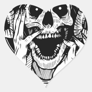 Sticker Cœur visage de diable