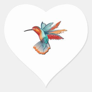 Sticker Cœur Vol de l'élégance