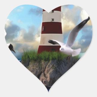 Sticker Cœur Voler d'oiseaux de phare