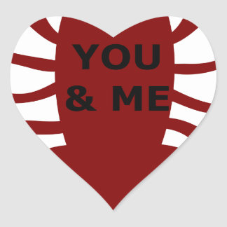 Sticker Cœur Vous et moi êtes des homards