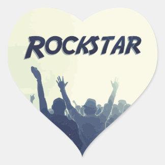 Sticker Cœur Vous êtes un Rockstar !