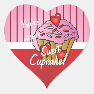 Sticker Cœur Vous êtes un tel petit gâteau Valentine de BONBON