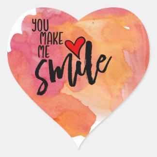 Sticker Cœur Vous m'incitez à sourire
