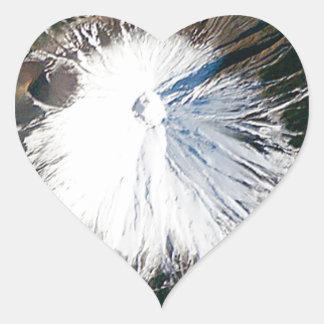Sticker Cœur vue aérienne du mont Fuji