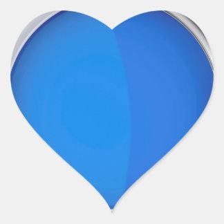 Sticker Cœur Vue supérieure de peinture bleue