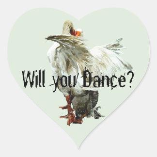 Sticker Cœur Will you Dance?