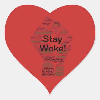 Sticker Cœur #WokeWednesdays