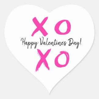 Sticker Cœur XOXO - Coeur de heureuse Sainte-Valentin