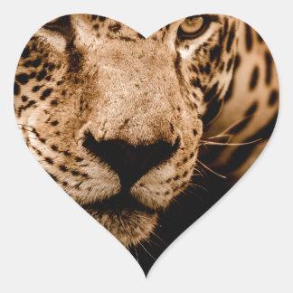 Sticker Cœur yeux de égrappage de l'eau de jaguar