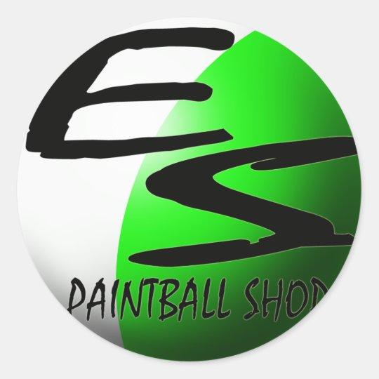 sticker ES paintball green
