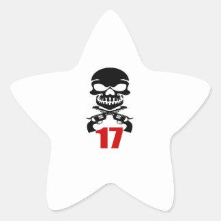Sticker Étoile 17 conceptions d'anniversaire