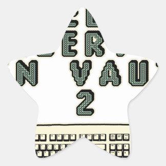 Sticker Étoile 1 GEEK AZERY en vaut 2 - Jeux de motsT