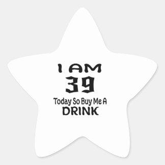 Sticker Étoile 39 achetez-aujourd'hui ainsi moi une boisson
