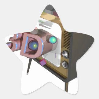 STICKER ÉTOILE 3D TV