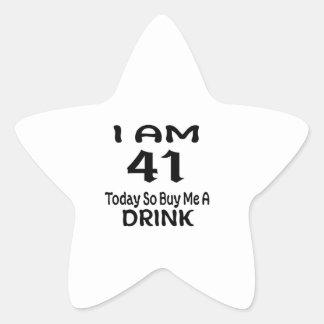 Sticker Étoile 41 achetez-aujourd'hui ainsi moi une boisson