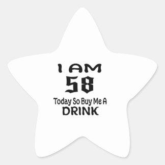 Sticker Étoile 58 achetez-aujourd'hui ainsi moi une boisson