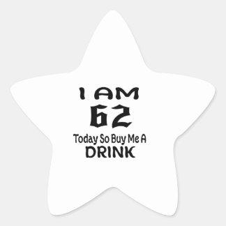Sticker Étoile 62 achetez-aujourd'hui ainsi moi une boisson