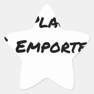 Sticker Étoile A CONSOMMER SUR PLACE OU À EMPORTER - Jeux de mots