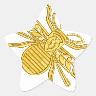 Sticker Étoile abeille royale, imitation de broderie