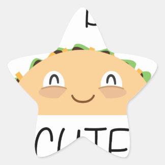 Sticker Étoile Accès de taco mignon
