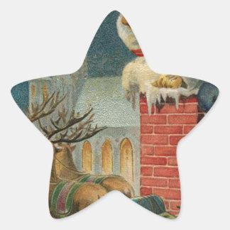 Sticker Étoile Affiche 1906 clous de Père Noël de cru original