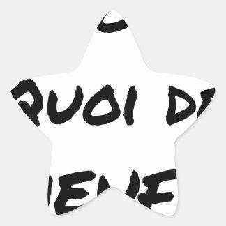 Sticker Étoile ALORS, QUOI DE MEUF ? - Jeux de mots