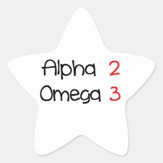 Sticker Étoile alpha omega