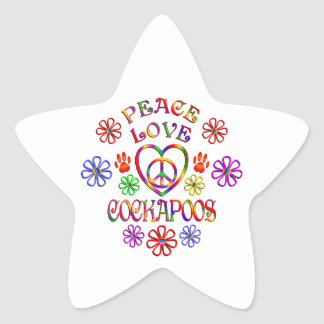 Sticker Étoile Amour Cockapoos de paix