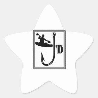 Sticker Étoile Amour de kayak