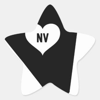 Sticker Étoile Amour du Nevada