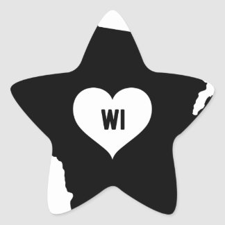 Sticker Étoile Amour du Wisconsin
