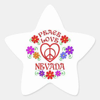 Sticker Étoile Amour Nevada de paix