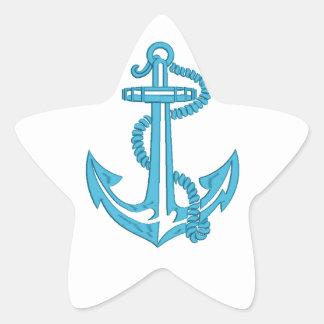 Sticker Étoile ancre - imitation de broderie