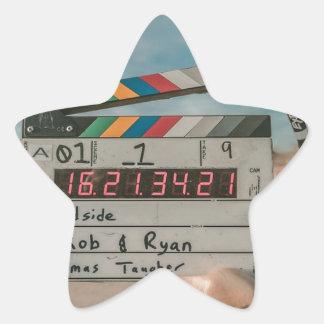 Sticker Étoile Appareil-photo de cinéma de film