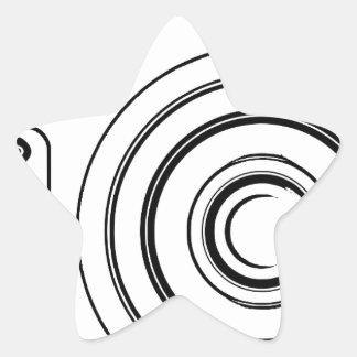 Sticker Étoile Appareil-photo noir et blanc