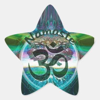 Sticker Étoile Arbre de Namaste de la vie