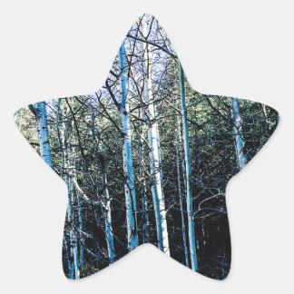 Sticker Étoile Arbres d'Aspen en automne