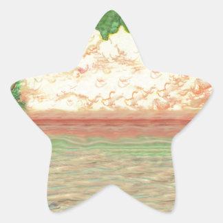Sticker Étoile Arbres et océan