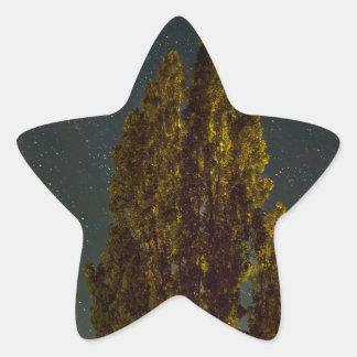 Sticker Étoile Arbres sous la manière laiteuse une nuit étoilée