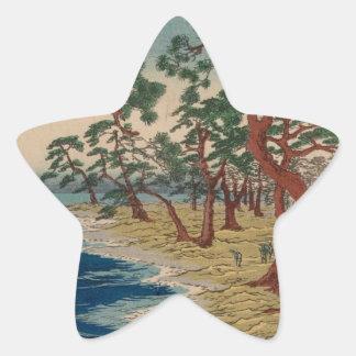 Sticker Étoile Arbres tordus par le rivage