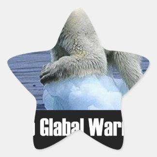 Sticker Étoile Arrêtez le réchauffement climatique maintenant