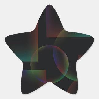 Sticker Étoile Arrière - plan abstrait noir