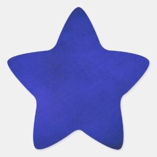 Sticker Étoile Arrière - plan de bleu royal et de noir