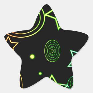 Sticker Étoile Arrière - plan d'étoiles