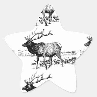 Sticker Étoile art de troupeau d'élans ouais