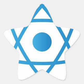 Sticker Étoile Atome d'isolement par résumé