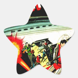 Sticker Étoile Attaque sur la planète Mars